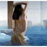 Tranh vẽ phụ nữ nude đơn giản nhưng tinh tế