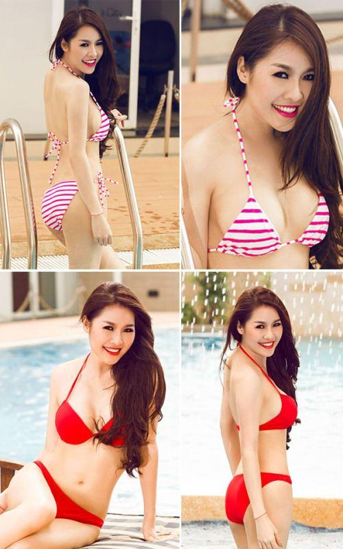 Quế Vân nóng bỏng với Bikini